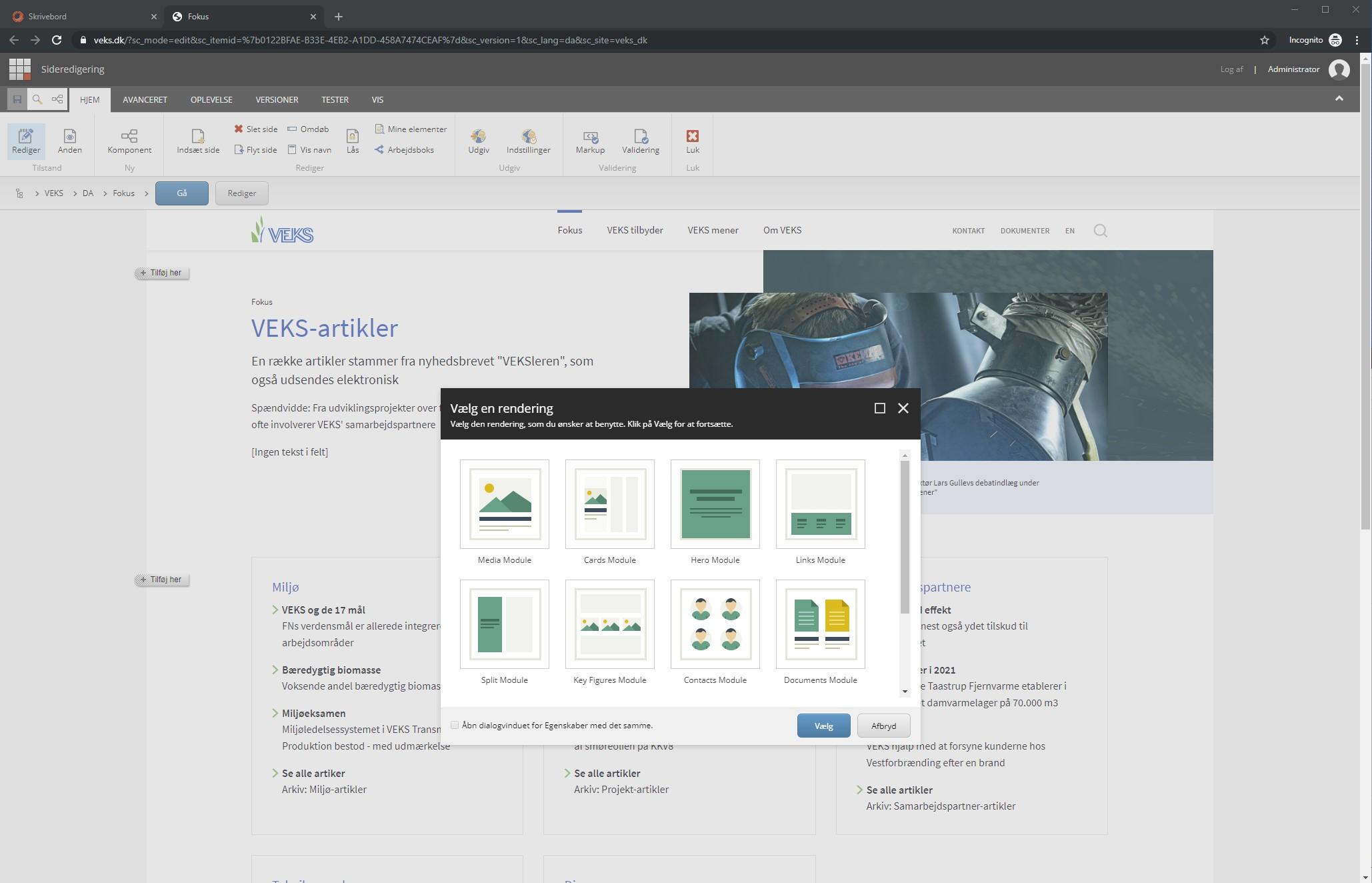 Sitecore Experience Editor